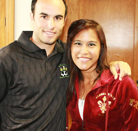 Landon Donovan at Laguna Beach Jean Co.