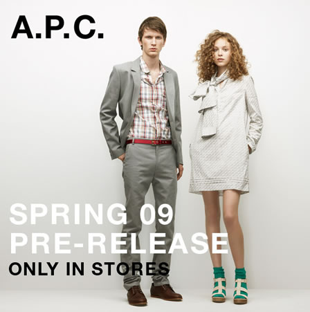 'A.P.C. Clothing Spring 2009
