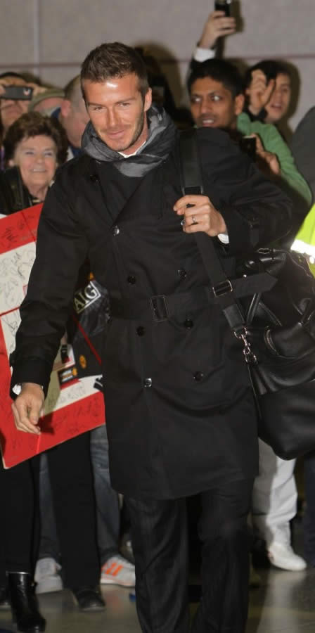 David Beckham in Burberry trench coat