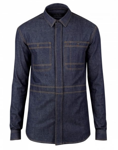 Burberry Denim Military Shirt
