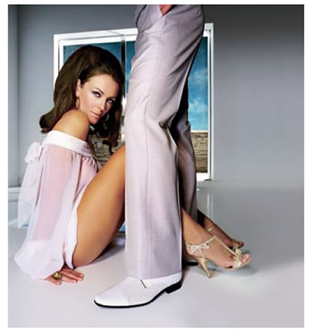 Patrick Cox Shoes Up for Grabs Unlike Liz Hurley!