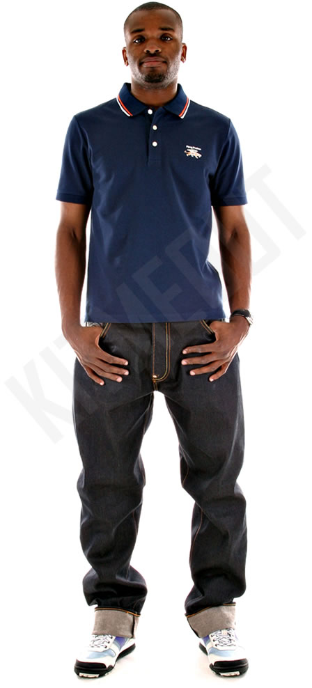 Darren Bent wearing RMC Jeans and Flying Predator Polo