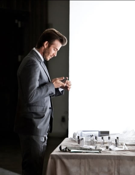 David Beckham Launching Homme Scent