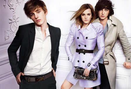 Emma Watson for Burberry S/S 2010 Campaign