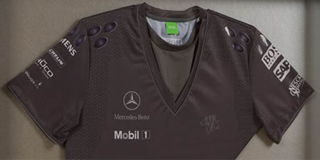 Hugo Boss Shirt + Team McLaren Mercedes