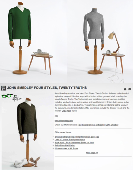 John Smedley Clothing - Four Styles, Twenty Truths