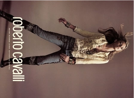 Roberto Cavalli Jeans advertised by Kate Moss