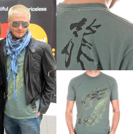David Beckham wears KU Tee