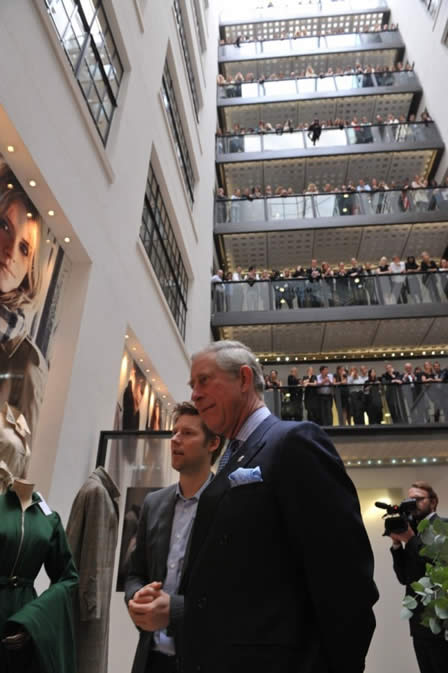 Prince Charles opens Burberry HQ