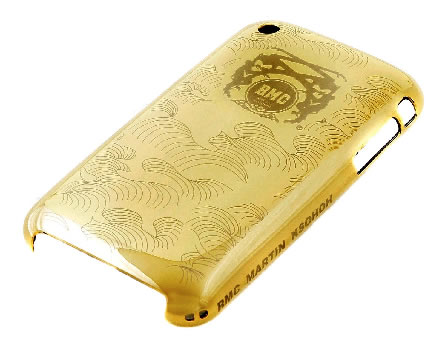 Red Monkey Company gold IPHONE 3 case