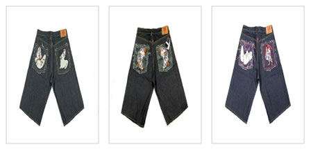 Red Monkey Denim Shorts, The Fake Collection