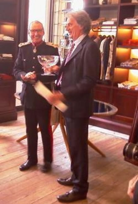 Paul Smith accepts the Queen's Award