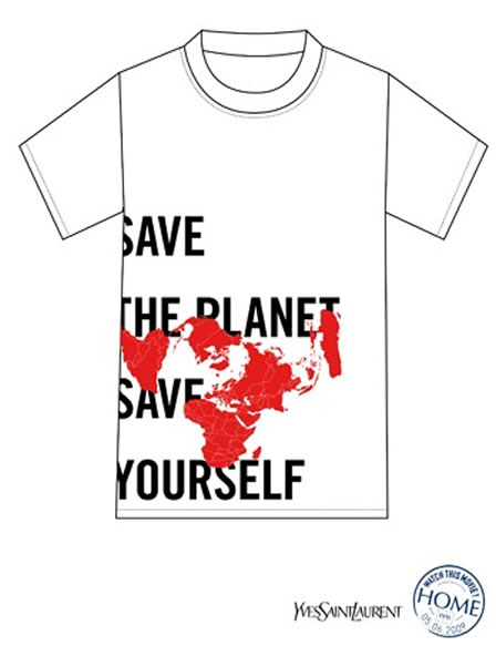 YSL T-Shirt with Environmental Consciousness