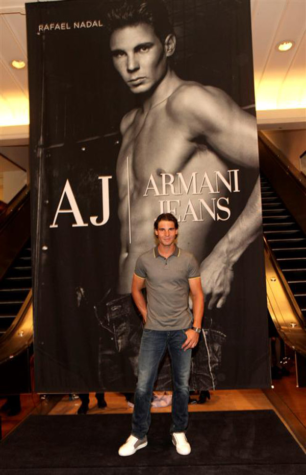 Rafael Nadal new face at Armani Jeans