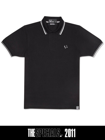 Fred Perry Black & White Polo Shirt