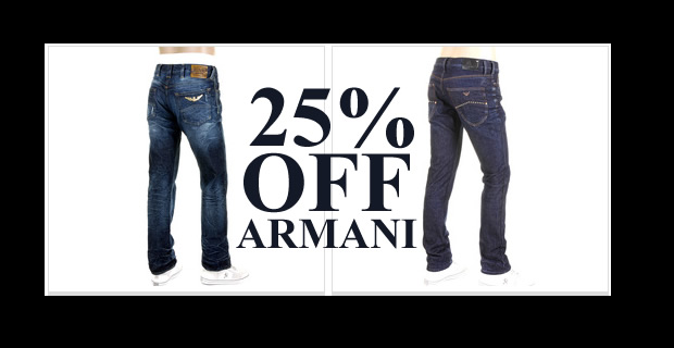 Currently Togged are running a 25% sitewide discount including Armani Jeans ed083c3b80c07