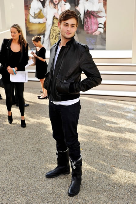 Douglas Booth wearing Burberry at the Burberry Prorsum Spring Summer 2011 Womenswear Show