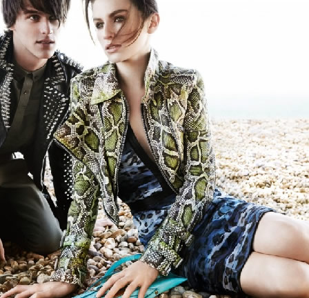 Tali Lennox and Tara Ferry - Burberry 2011 campaign