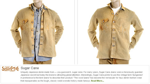 Sugar Cane brown vintage wash Jeans & Shirt